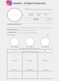 Editable Mock Facebook & Instagram Profile Back to School