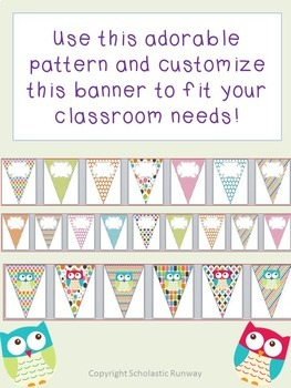 Editable Classroom Banner for any Back to School Message