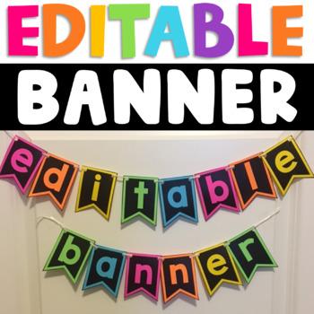 Editable Classroom Banners