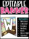 Editable Classroom Banners - Match Your Classroom Theme [Candyland]