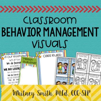 Editable Classroom Behavior Management Visuals