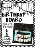 Editable Classroom Birthday Board for Back to School