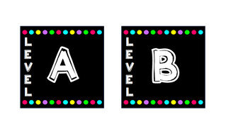Editable Classroom Book Bin Labels and Student Name Tags for Leveled Library