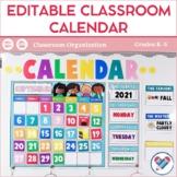Editable Classroom Calendar   Classroom Decor  