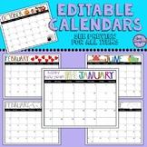 Editable Classroom Calendars - 3 sets