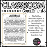 Editable Classroom Compliments Project