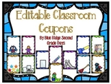 Editable Classroom Coupons