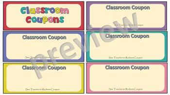 Editable Classroom Coupons
