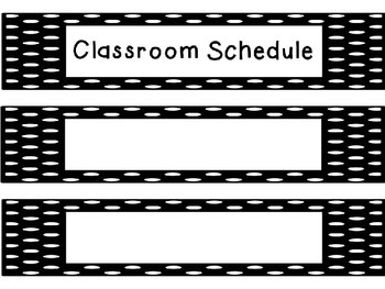 Editable Classroom Daily Schedule Labels
