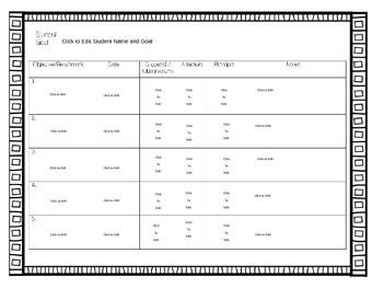 Editable Classroom Data Tracker