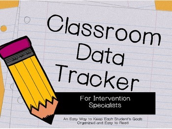 Editable Classroom Data Tracker