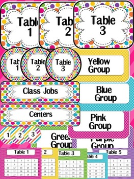 Editable Classroom Decor - Bright Colors