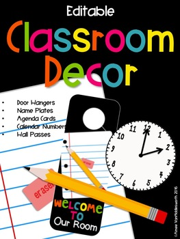 Editable Classroom Decor Bundle