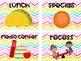 Editable Classroom Decor Bundle - Rainbow Watercolor Chevron