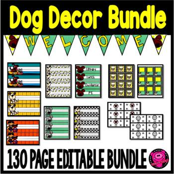 Doggy Decor Bundle Editable