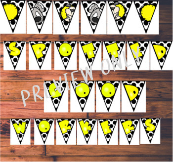 Editable Dog Theme Classroom Decor