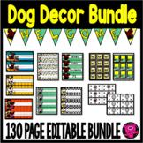 Dog Theme Classroom Decor Editable and Printable