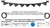 Editable Classroom Decor Growing Bundle