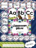 Editable Classroom Decor - Navy