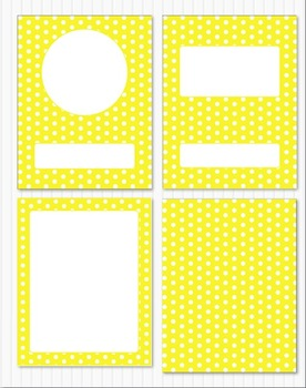 Editable Classroom Decor Package Bright Yellow Polka Dots