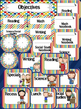 Editable Classroom Decor - Primary Colors