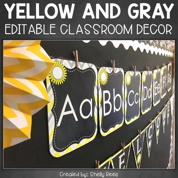 Classroom Decor - Chalkboard Theme Classroom
