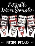 Editable Classroom Decor and Label Set Sampler: PIRATE PROUD