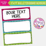 Bulletin Board Headers - Pink, Blue and Green Polkadots {EDITABLE}