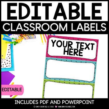 Bulletin Board Headers - Pink, Blue and Green Polkadots {EDITABLE}