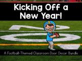 Editable Classroom Door Decor: Football-Themed