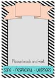Editable Classroom Door Sign