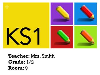 Editable Classroom Door Welcome Poster Sign
