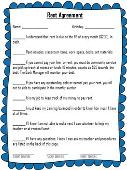 Editable Classroom Economy