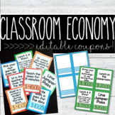Editable Classroom Economy Coupons - Make Your Own!