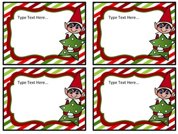 Editable Classroom Elf Notes (freebie)
