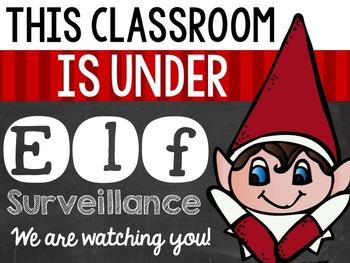 Editable Classroom Elf Notes (freebie)