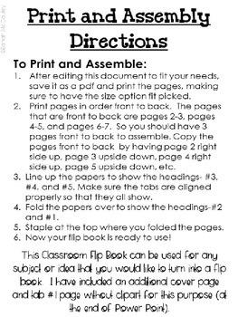 Editable Classroom Flip Book