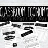 Editable Classroom Forms for a Classroom Economy