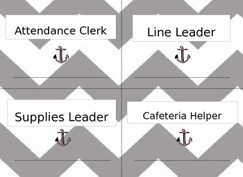 Editable Classroom Helpers - Dry Erase for Years of Use