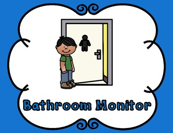 Editable Classroom Helpers and Classroom Center Signs Combo