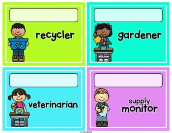 Editable Classroom Helpers in Spanish {Bright Colors}