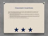 Editable Classroom Incentives