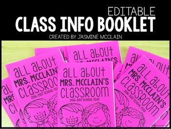 Editable Classroom Information Booklet