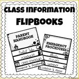 Editable Classroom Information FlipBooks