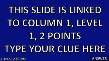 Editable Classroom Jeopardy GAME!
