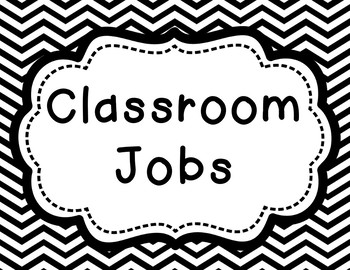 Editable Classroom Job Clip Chart (Bright Chevron Pattern)