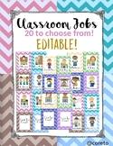 Editable Classroom Jobs!