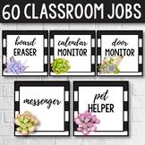Editable Classroom Jobs - Cactus Classroom Decor