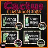 Editable Classroom Jobs- Cactus Classroom Decor