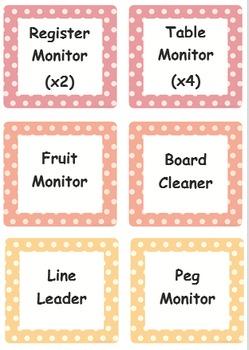 Editable Classroom Jobs Chart